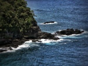 looking down from Hana