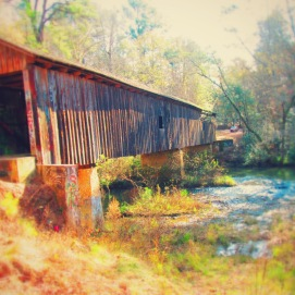 One of the last covered bridges in the US happens to be in Blakely.