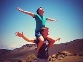 Taking in Haleakala