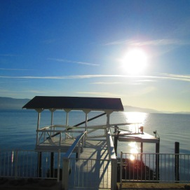 A visit with Mom on Clearlake in Lakeport