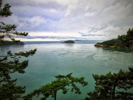 Looking out from Deception Pass