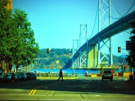 The western span of the Bay Bridge