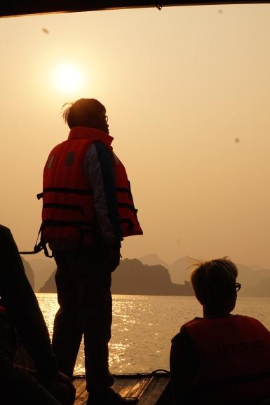 Sunset on Ha Long Bay