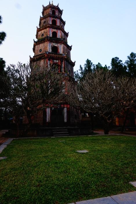 Thiên Mụ Pagoda overlooking Perfume River in Hue, Vietnam