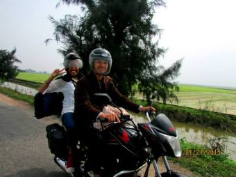 (Photo credit: Karen Mork) Riding through the country side - Hue, Vietnam